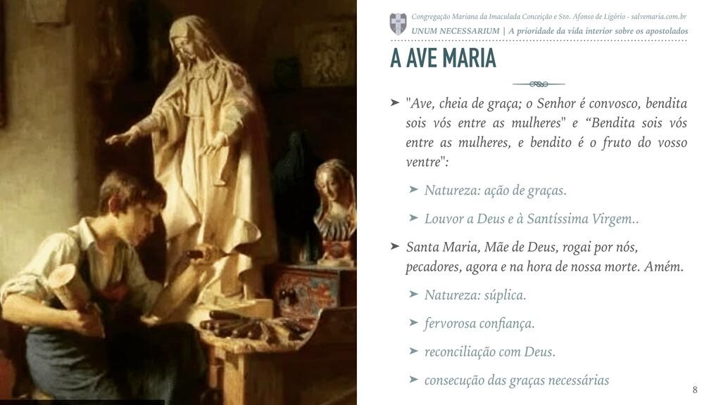 """A AVE MARIA ➤ """"Ave, cheia de graça; o Senhor é ..."""