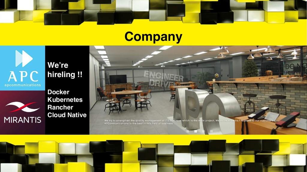 Company We're hireling !! Docker Kubernetes Ran...