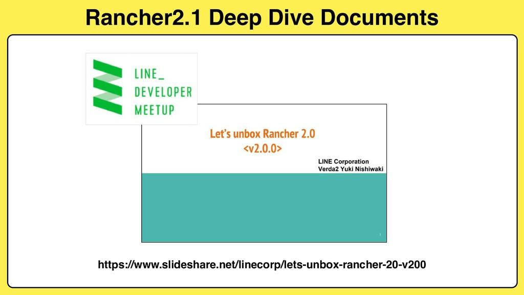 Rancher2.1 Deep Dive Documents https://www.slid...