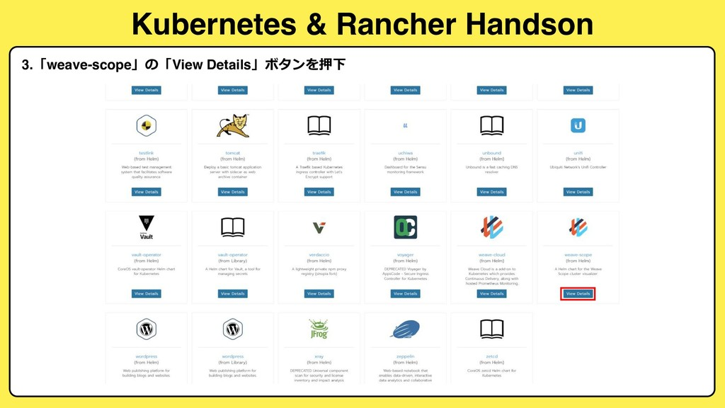 Kubernetes & Rancher Handson 3.weave-scopeV...