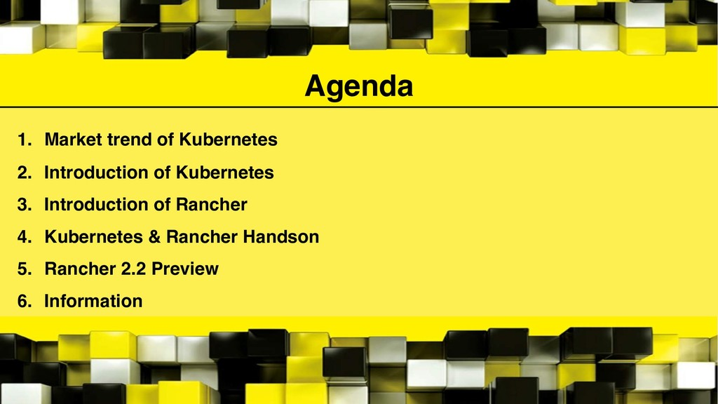 Agenda 1. Market trend of Kubernetes 2. Introdu...