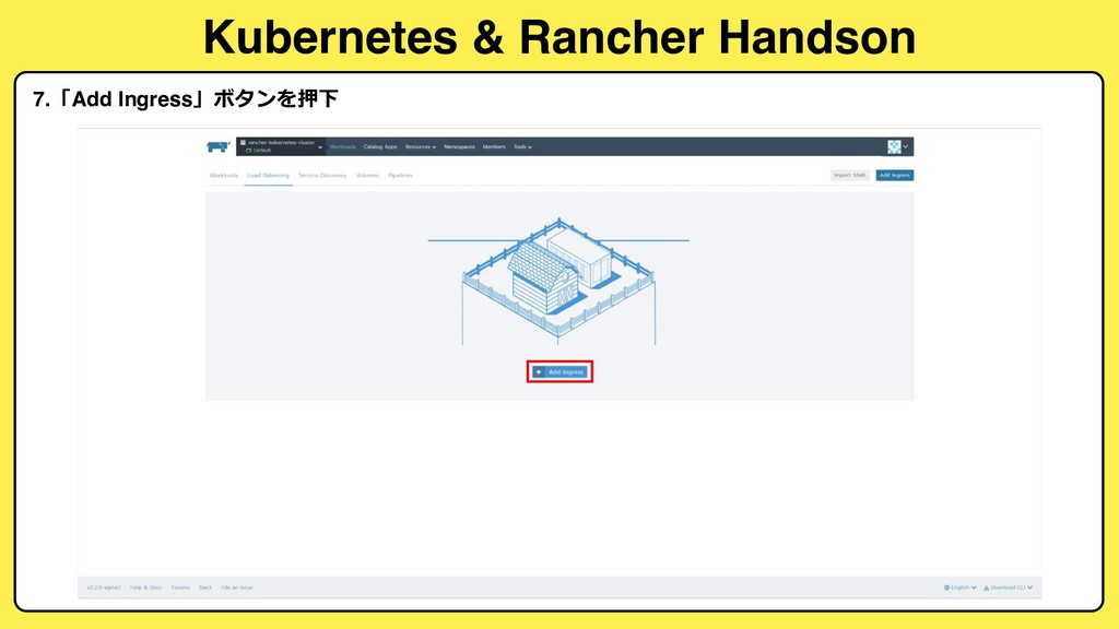 Kubernetes & Rancher Handson 7.Add Ingress...