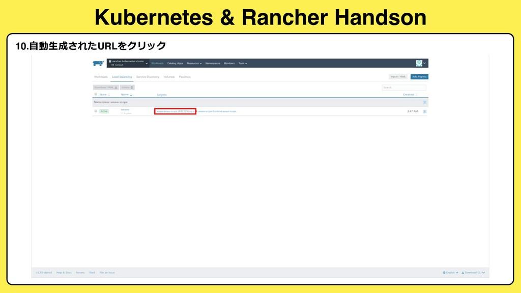Kubernetes & Rancher Handson 10.  URL