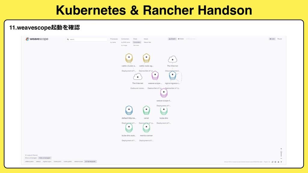 Kubernetes & Rancher Handson 11.weavescope