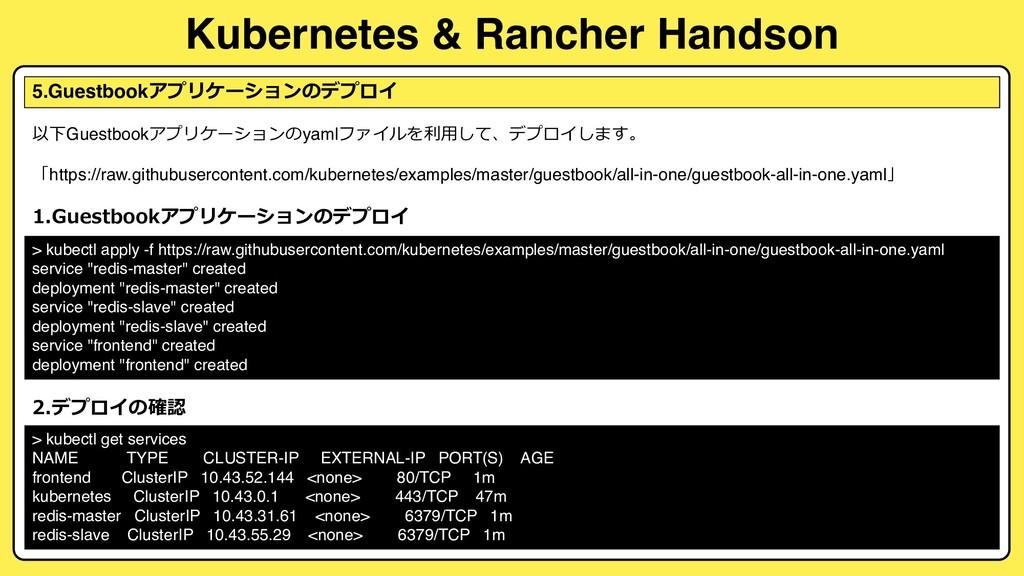 Kubernetes & Rancher Handson 5.Guestbook 2 .1 ...