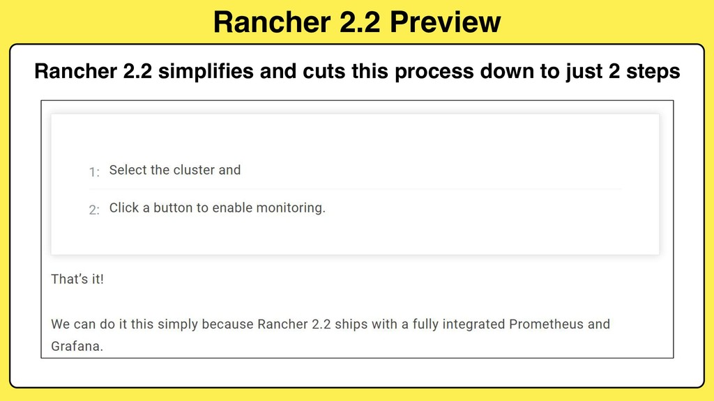 Rancher 2.2 Preview Rancher 2.2 simplifies and ...