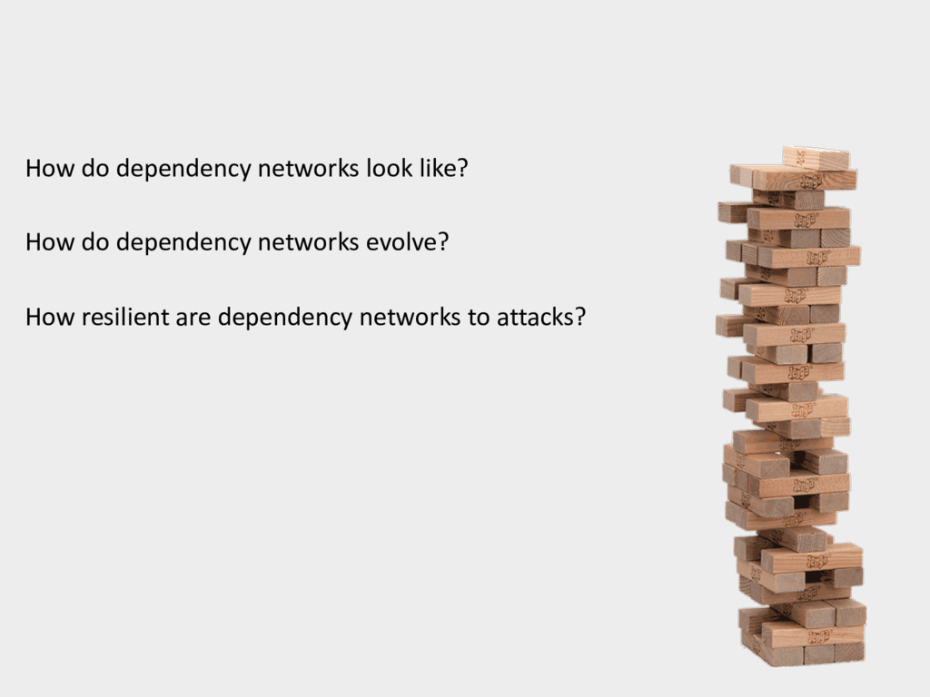 How do dependency networks look like? How do de...