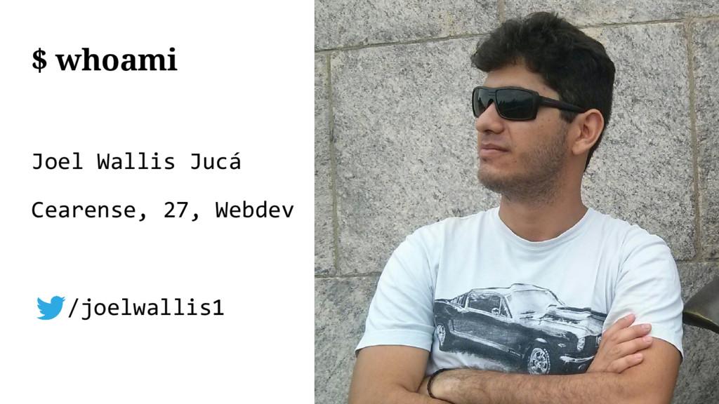 Joel Wallis Jucá Cearense, 27, Webdev /joelwall...