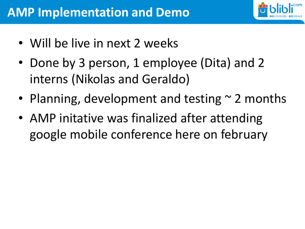 AMP Implementation and Demo • Will be live in n...