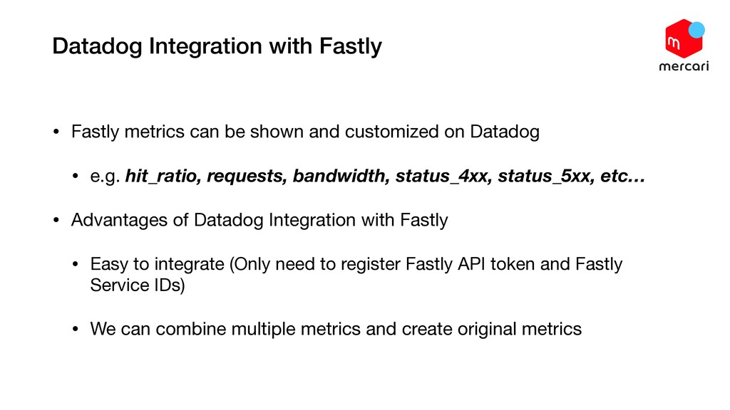 Datadog Integration with Fastly • Fastly metric...