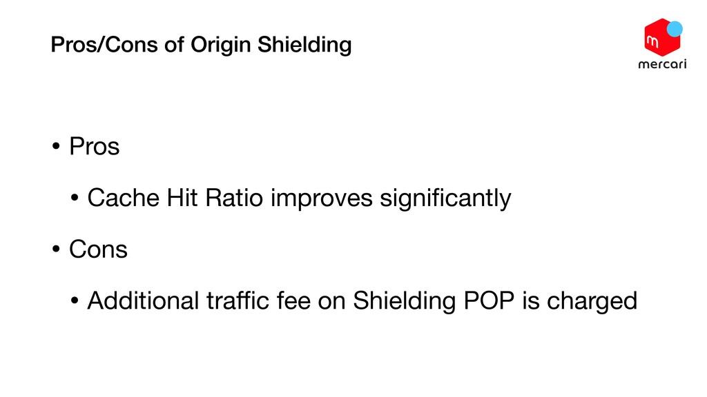 Pros/Cons of Origin Shielding • Pros  • Cache H...