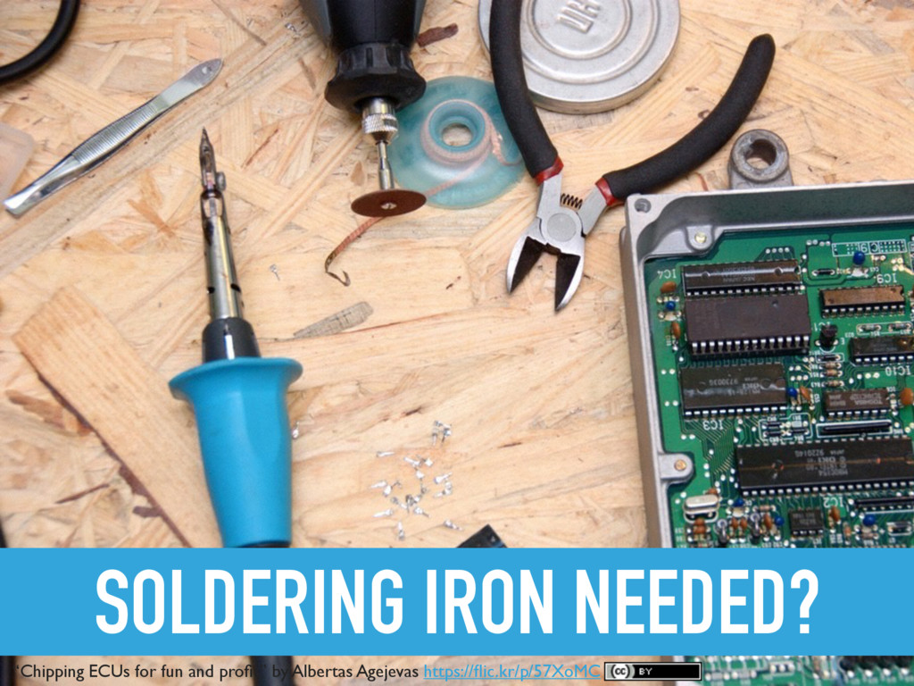 """SOLDERING IRON NEEDED? """"Chipping ECUs for fun a..."""