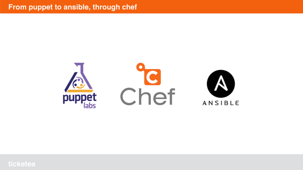 ticketea From puppet to ansible, through chef