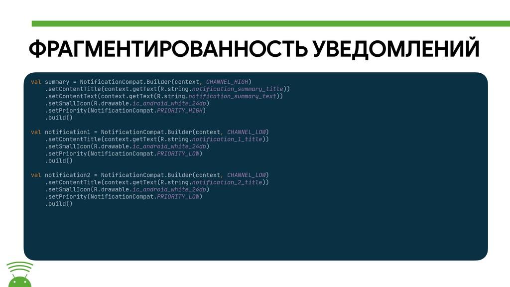 ФРАГМЕНТИРОВАННОСТЬ УВЕДОМЛЕНИЙ val summary = N...