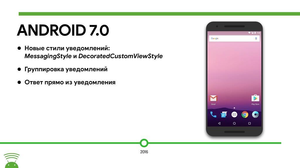 ANDROID 7.0 • Новые стили уведомлений: Messagin...