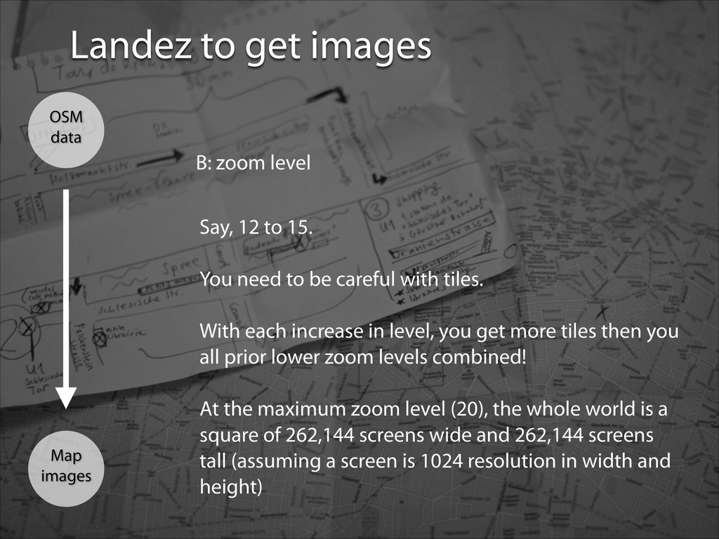 Landez to get images Map images OSM data B: zoo...