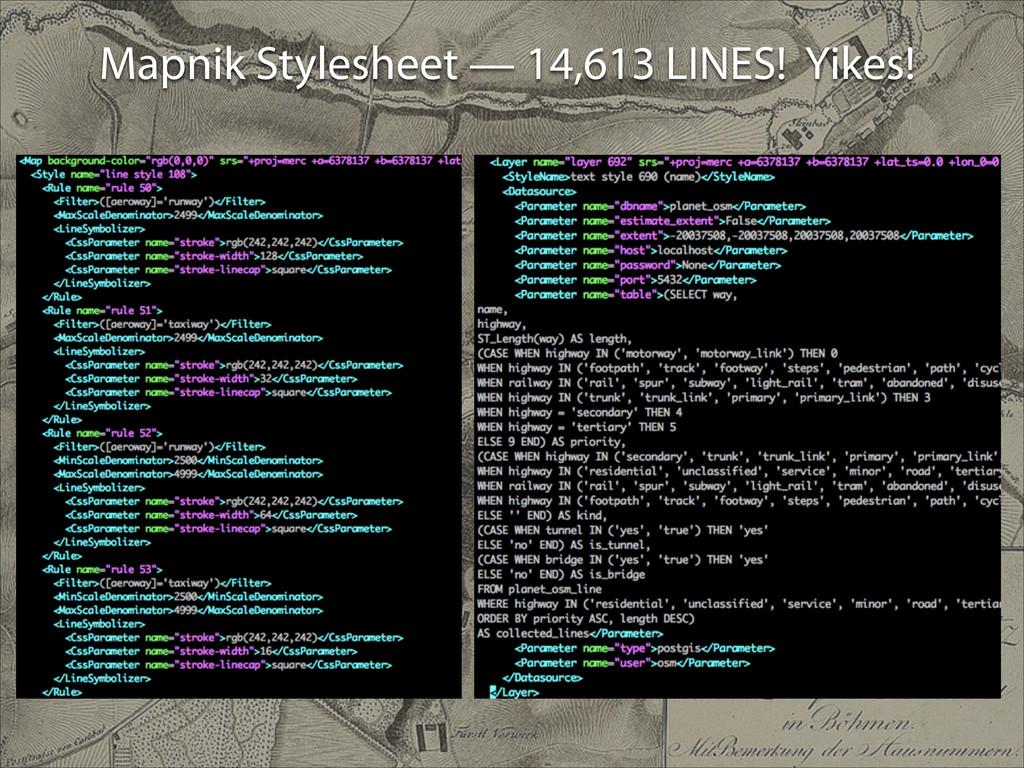 Mapnik Stylesheet — 14,613 LINES! Yikes!