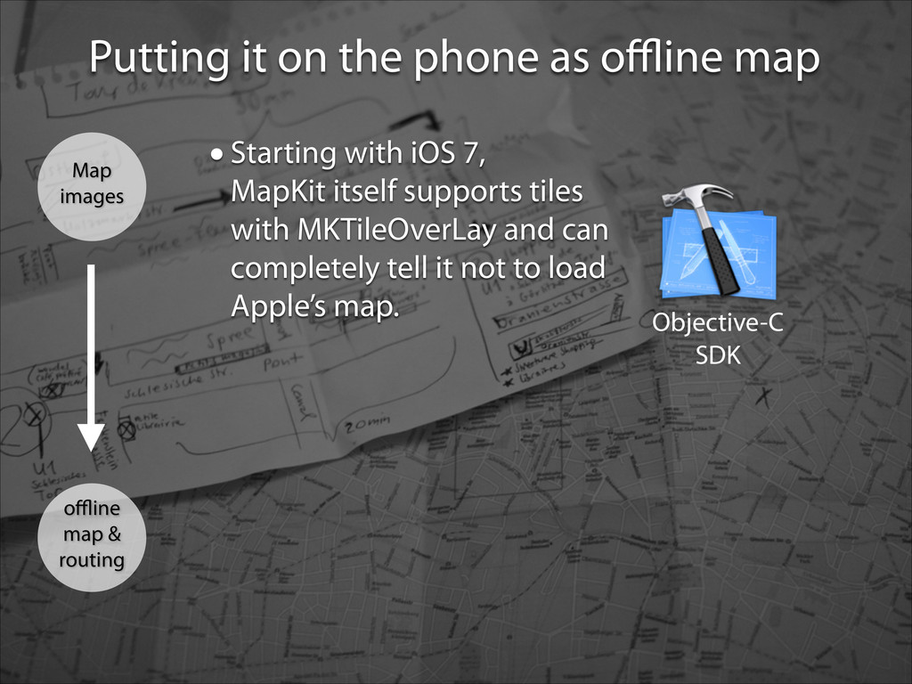 Putting it on the phone as offline map Objective-...