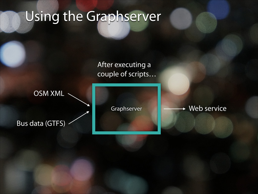 Using the Graphserver OSM XML Bus data (GTFS) A...
