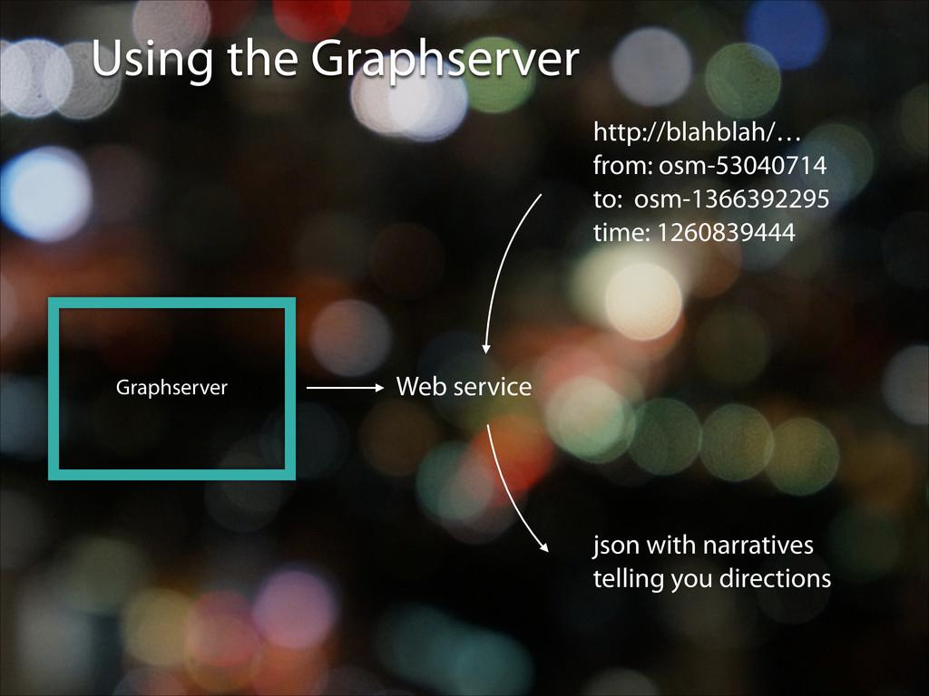 Using the Graphserver Graphserver Web service h...