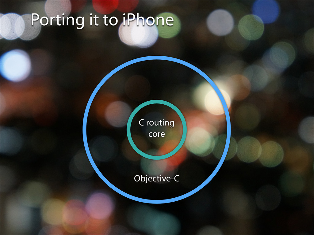 Porting it to iPhone Objective-C C routing core