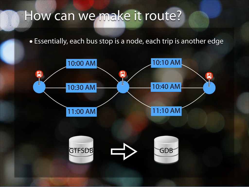 How can we make it route? •Essentially, each bu...