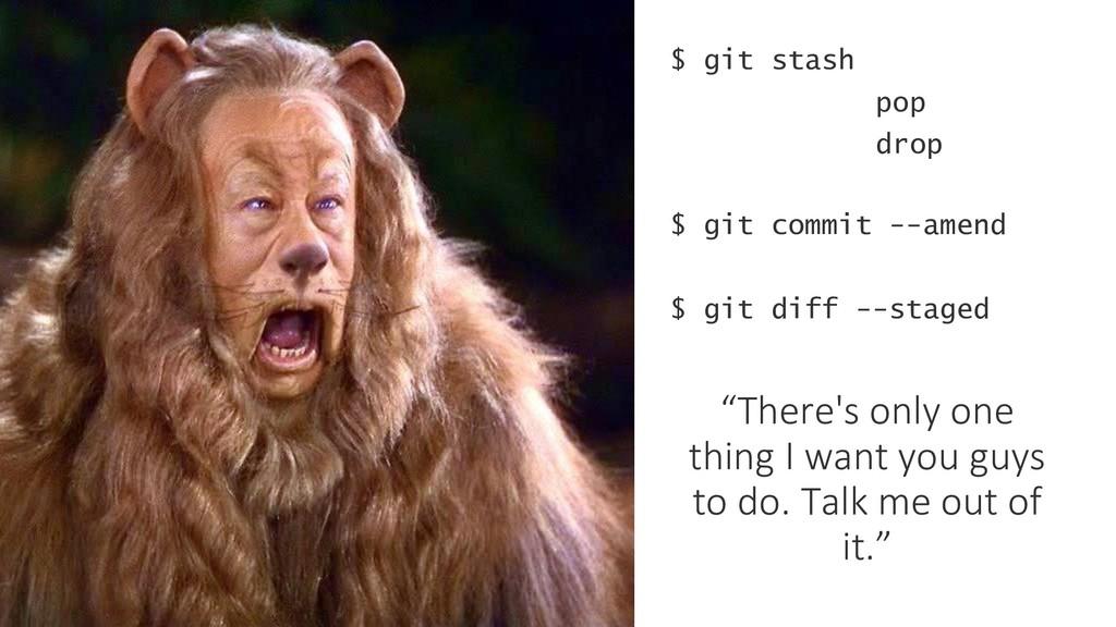 $ git stash $ git commit --amend pop drop $ git...