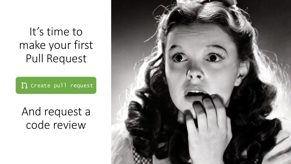 It's time to make your first Pull Request Creat...