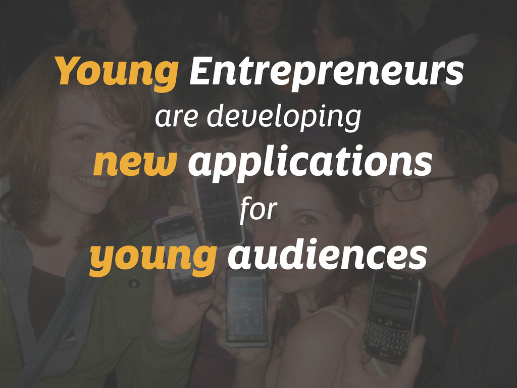 Young Entrepreneurs are developing new applicat...