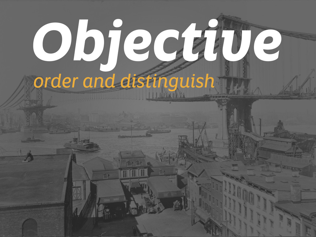 Objective order and distinguish