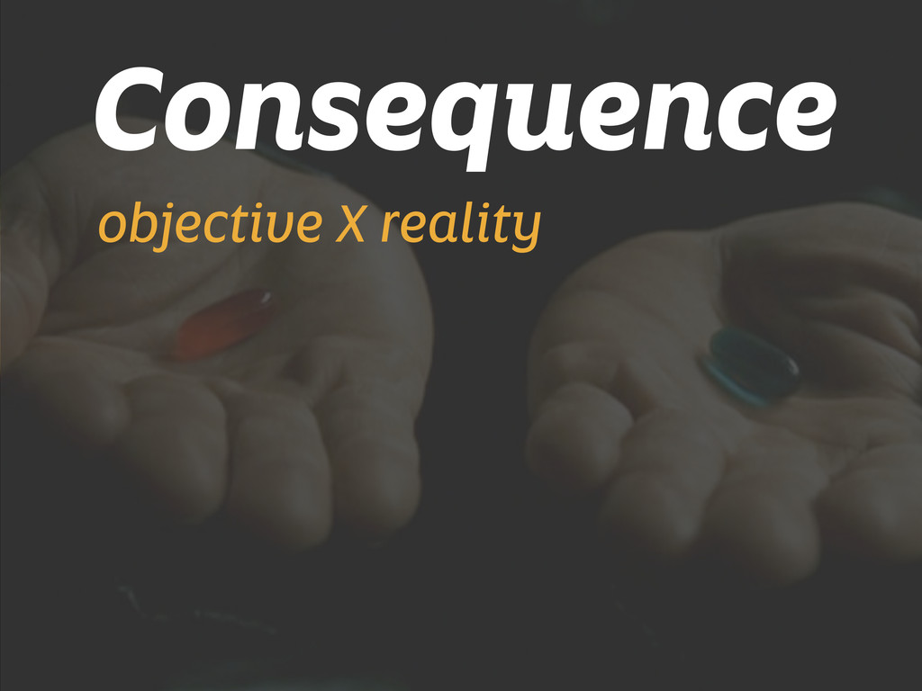 Consequence objective X reality