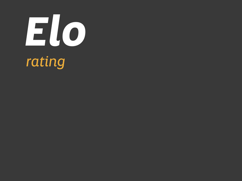 Elo rating