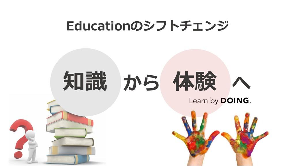 Educationのシフトチェンジ 知識 から 体験 へ