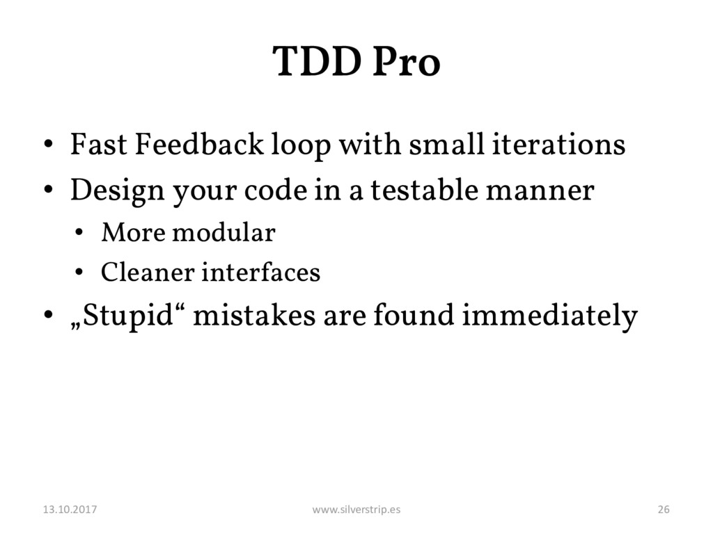 TDD Pro • Fast Feedback loop with small iterati...