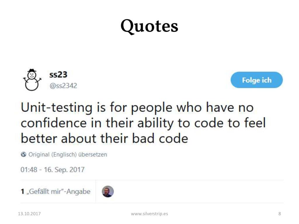 Quotes 13.10.2017 www.silverstrip.es 8