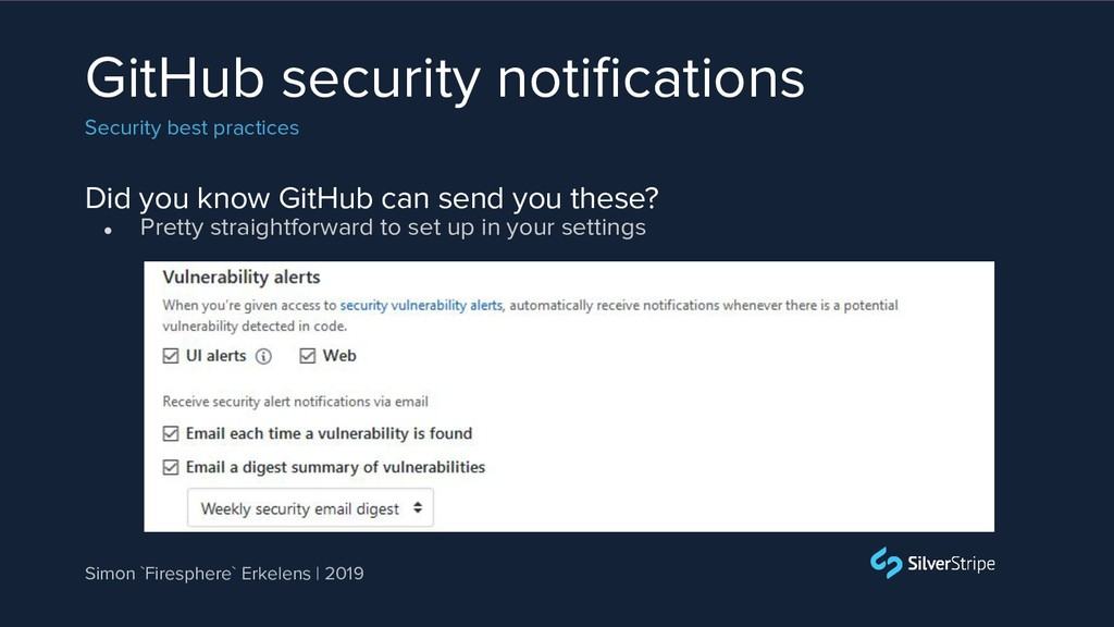 Did you know GitHub can send you these? GitHub ...