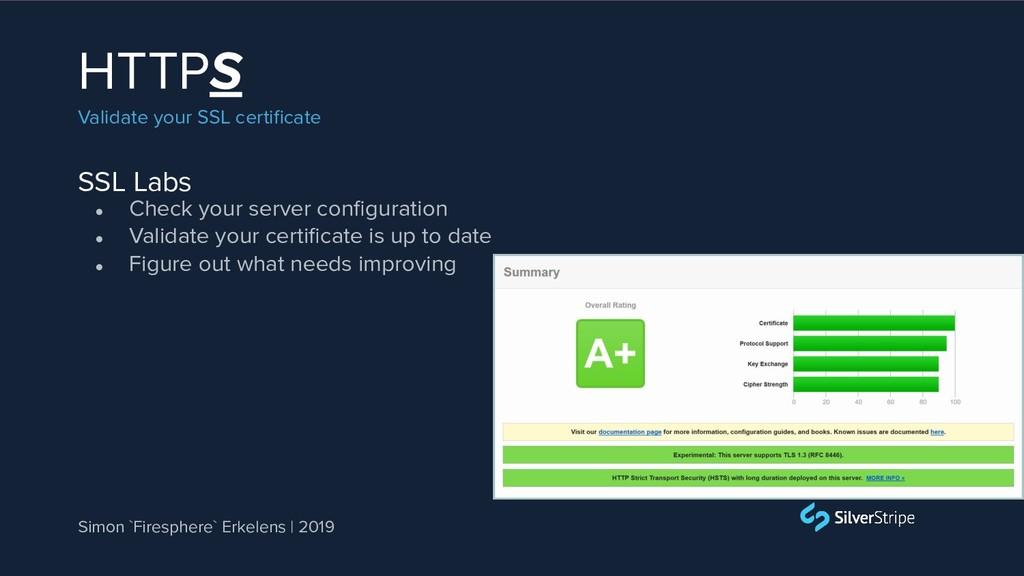 SSL Labs HTTPS Validate your SSL certificate ● C...