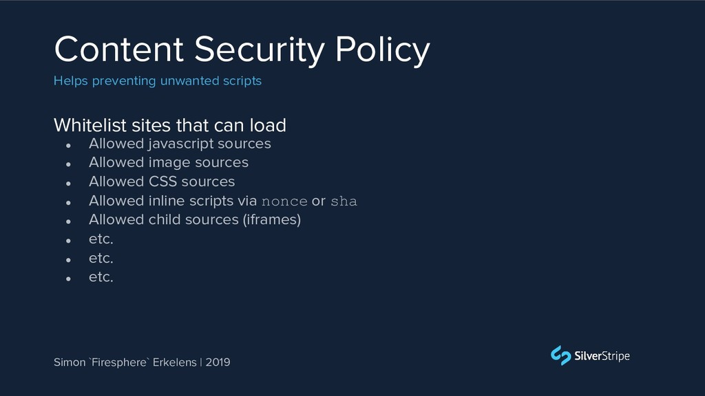 Whitelist sites that can load Content Security ...