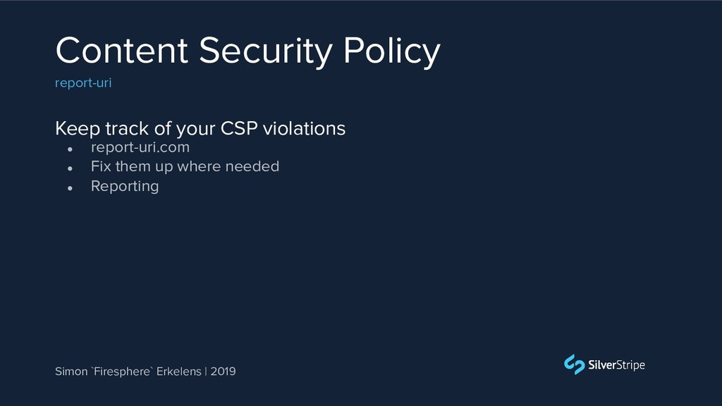 Keep track of your CSP violations Content Secur...