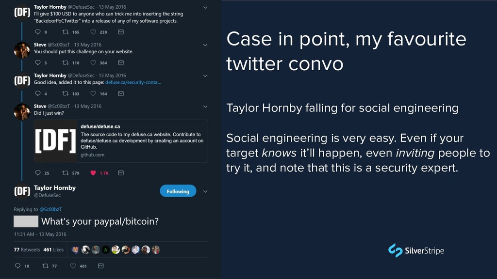 Case in point, my favourite twitter convo Taylo...