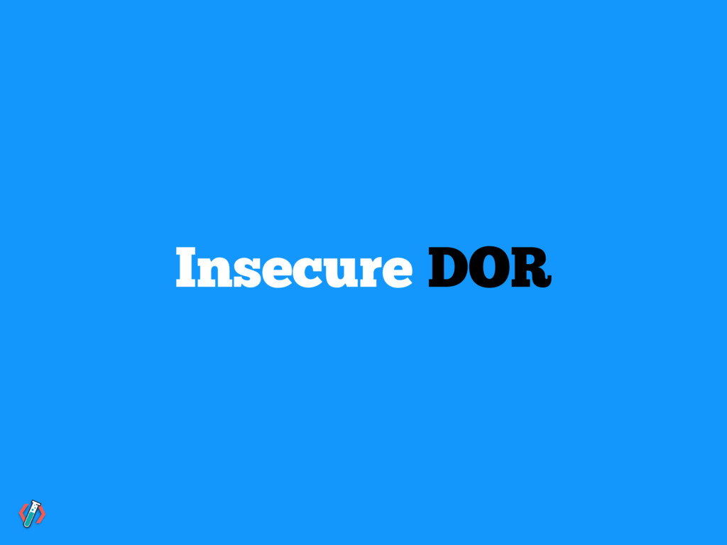 Insecure DOR
