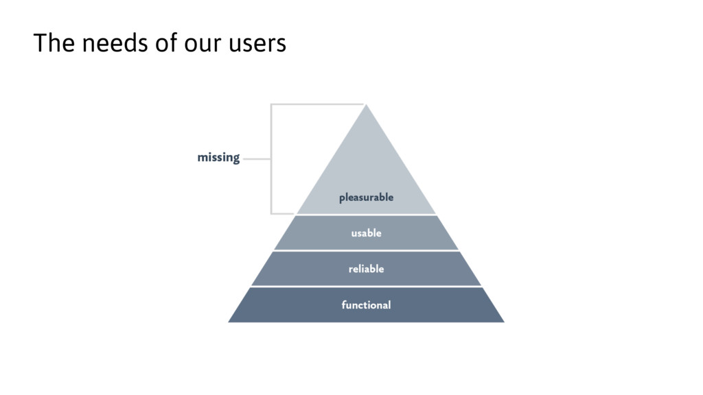 The needs of our users
