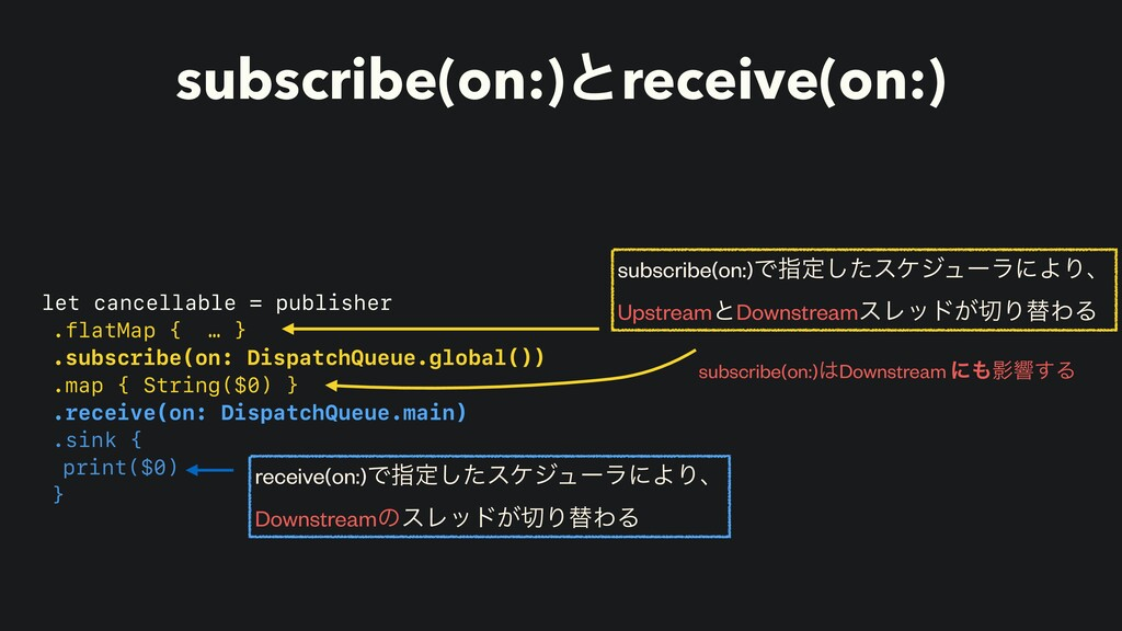 subscribe(on:)ͱreceive(on:) let cancellable = p...