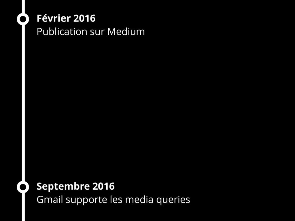 Février 2016 Publication sur Medium Septembre 2...