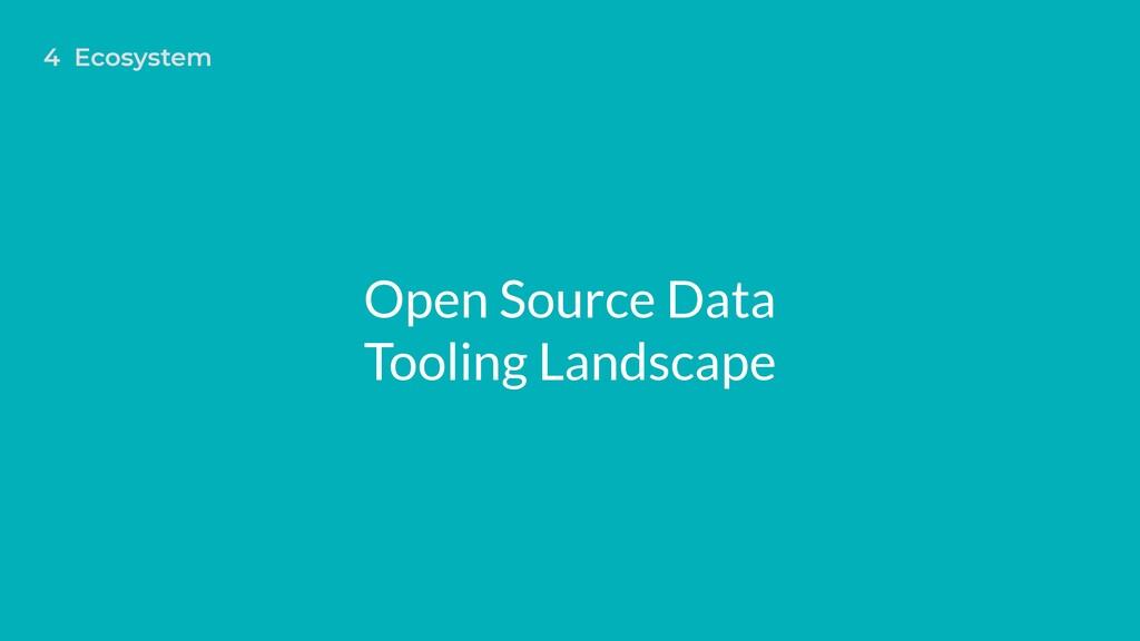Open Source Data Tooling Landscape 4 Ecosystem