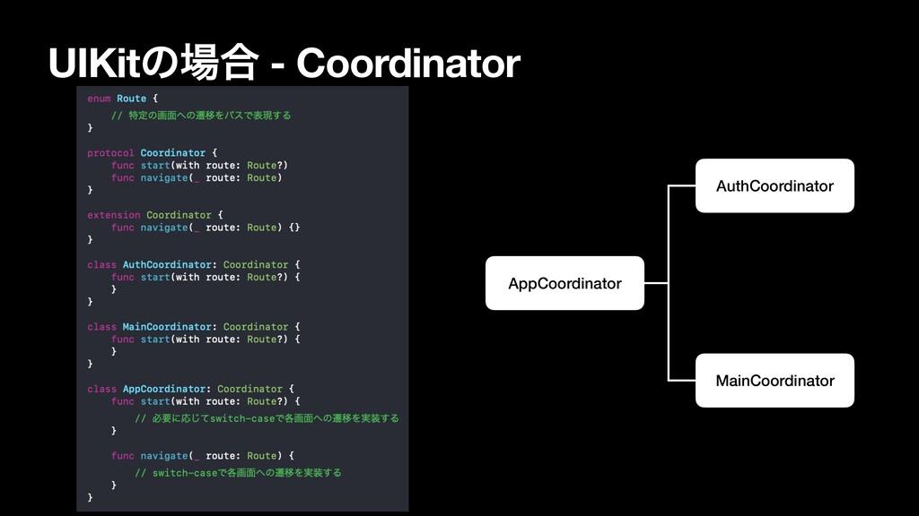 UIKitͷ߹ - Coordinator AppCoordinator AuthCoord...