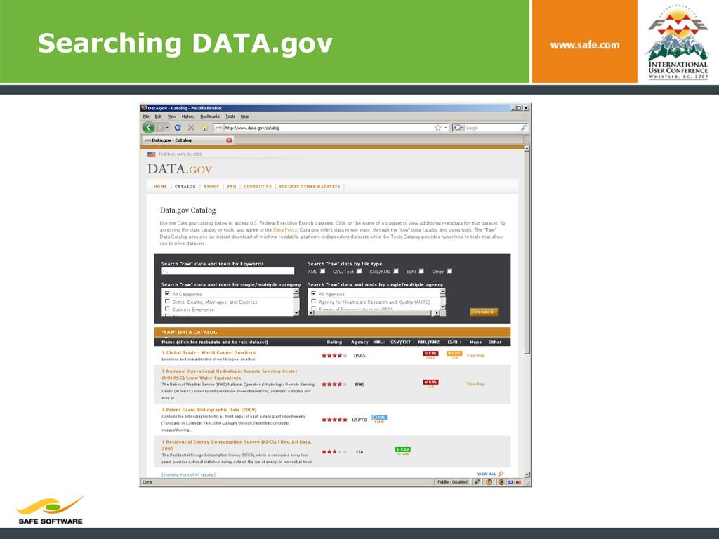 Searching DATA.gov