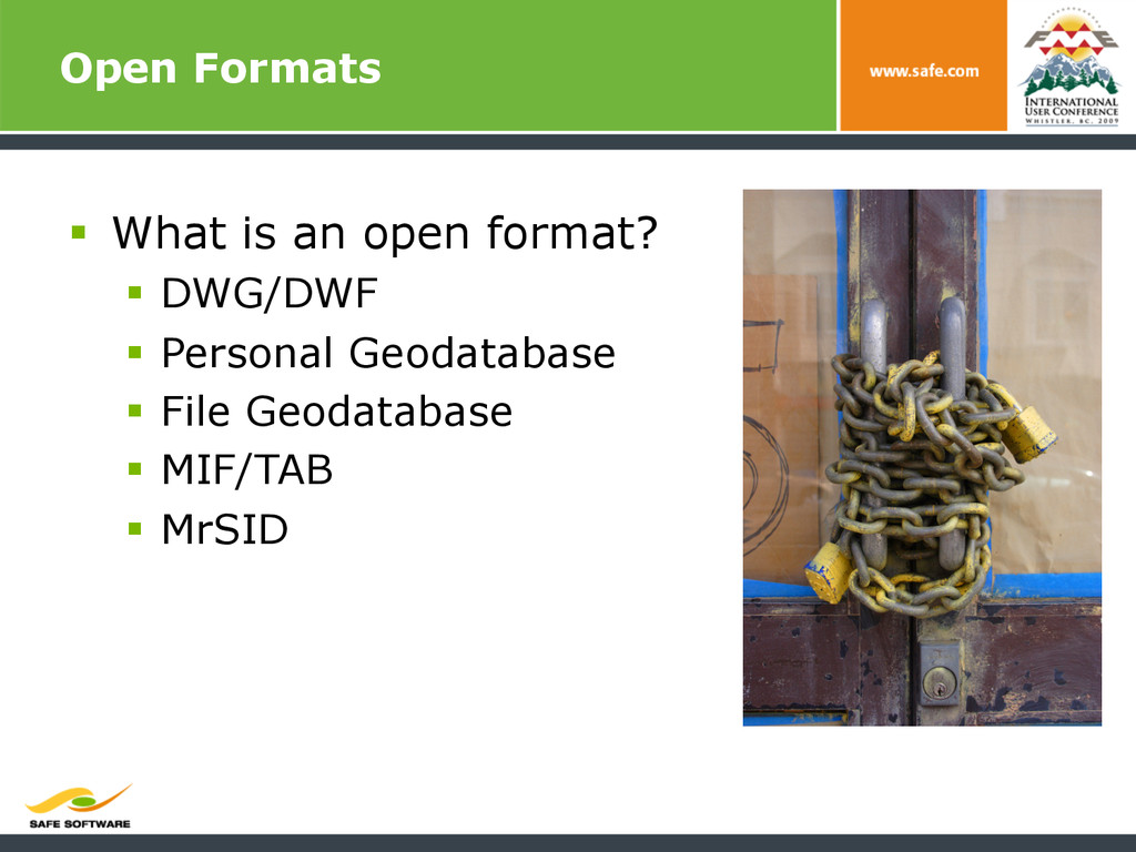 Open Formats § What is an open format? § DW...
