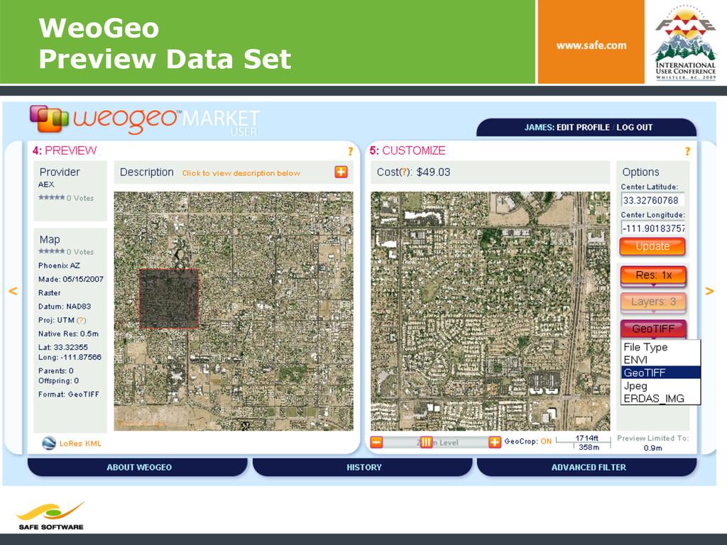 WeoGeo Preview Data Set