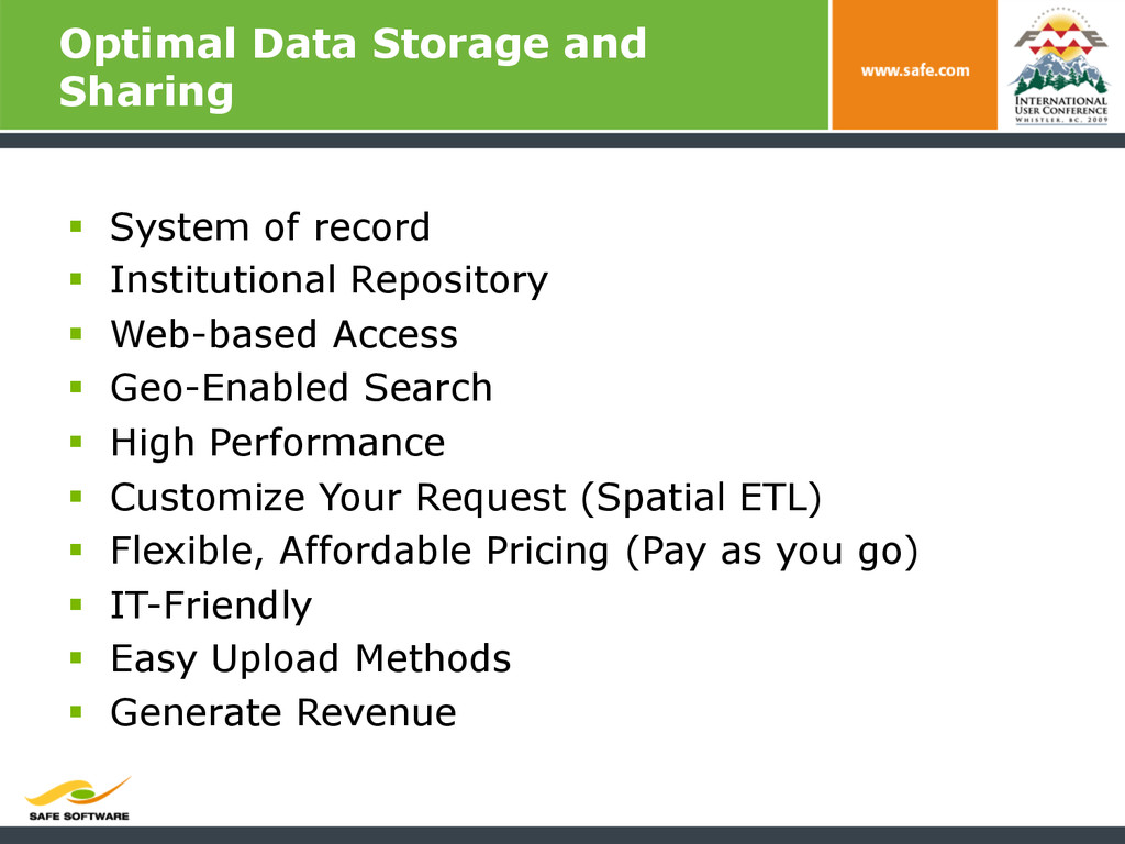 Optimal Data Storage and Sharing § System of ...